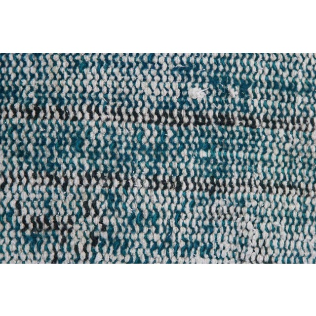 Turquoise Handmade Over-Dyed Rug Pillows - Pair - Image 7 of 7