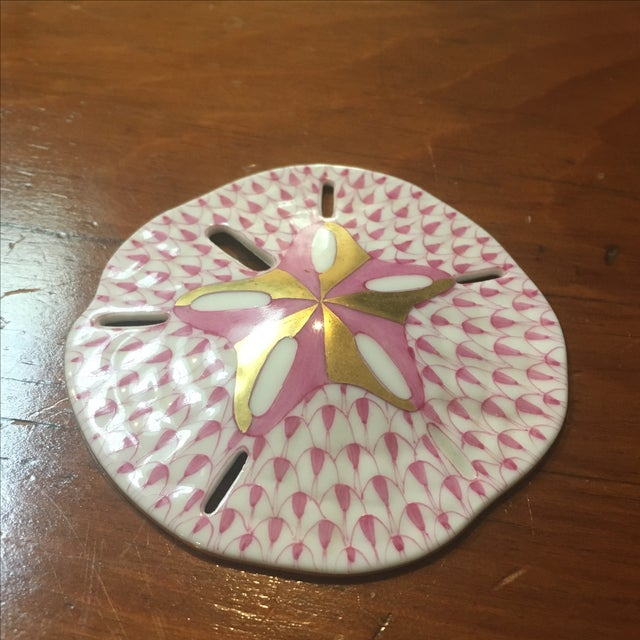 Herend Pink & Gold Sand Dollar - Image 3 of 4