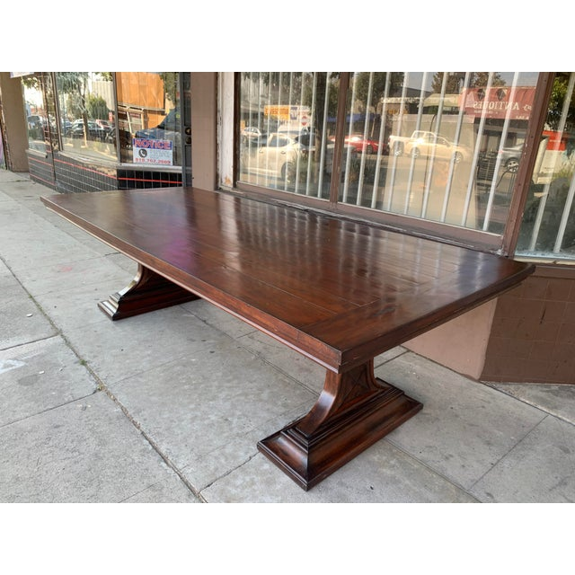 1980s 1980s Traditional Solid Wood Mahogany Dining Table For Sale - Image 5 of 12