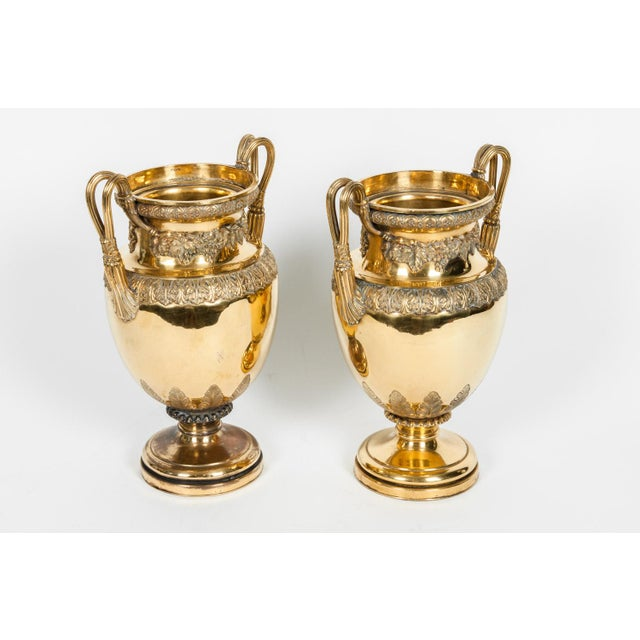 Art Nouveau Old English Bronze Decorative Vases For Sale - Image 3 of 13