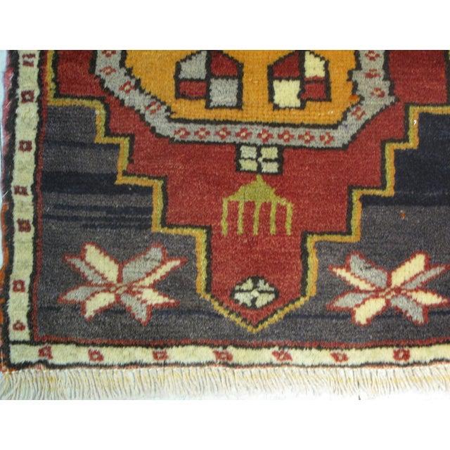 Vintage Turkish Rug - 1′6″ × 2′10″ For Sale - Image 5 of 6