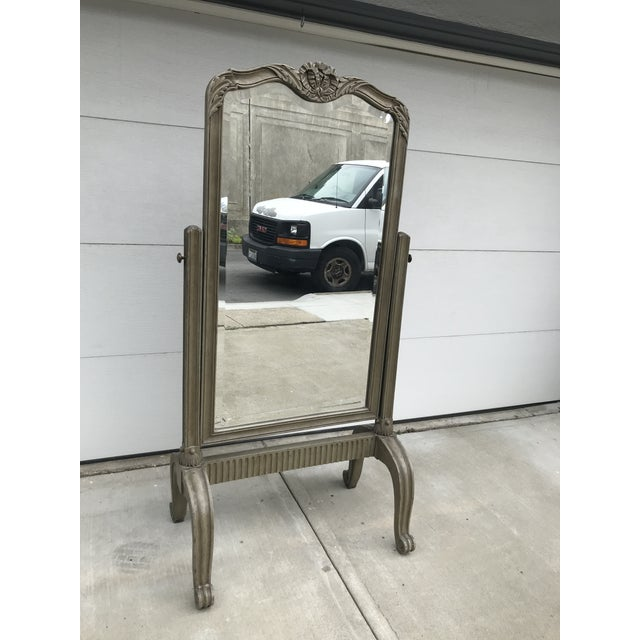 1970s Neoclassical Style Cheval Mirror For Sale - Image 4 of 7