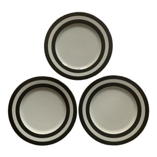 Ralph Lauren Spectator Black Stripe Salad Plates - Set of 3 For Sale