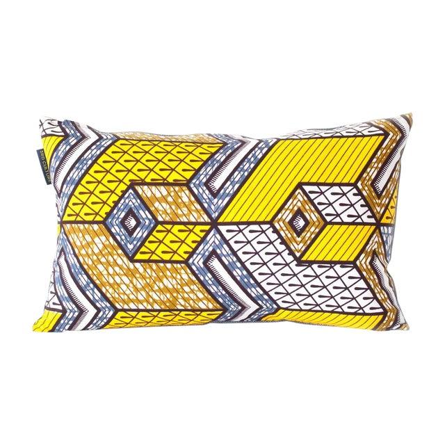 Yellow Wax Print Rectangular Pillow Cover - Image 1 of 5