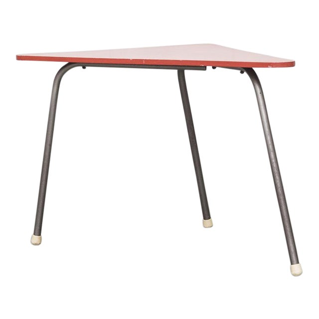 Retro Red Triangle Side Table - Image 1 of 11