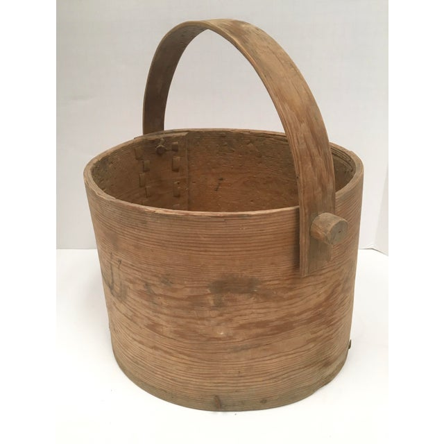 Antique Wood Butter & Cheese Basket For Sale - Image 5 of 10