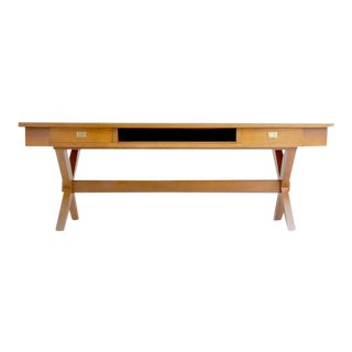 1960s Mid-Century Modern Massive Desk or Console Table For Sale