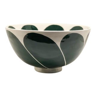 Handcrafted Ceramic Bowl, Signed For Sale