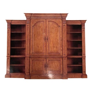 Ethan Allen 3-Piece Pine Tuscan Style Wall Entertainment Unit For Sale