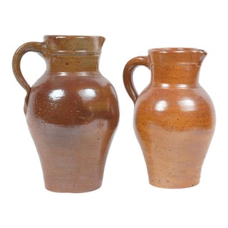 Danish Stoneware Pitchers - a Pair For Sale