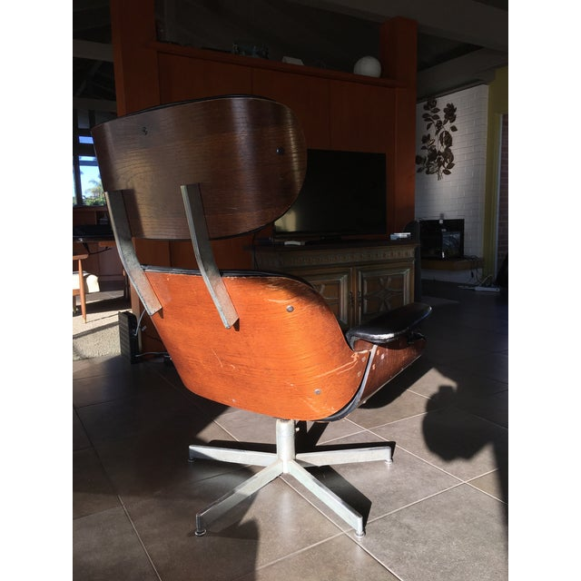 Eames-Style Black Lounge Chair - Image 3 of 4