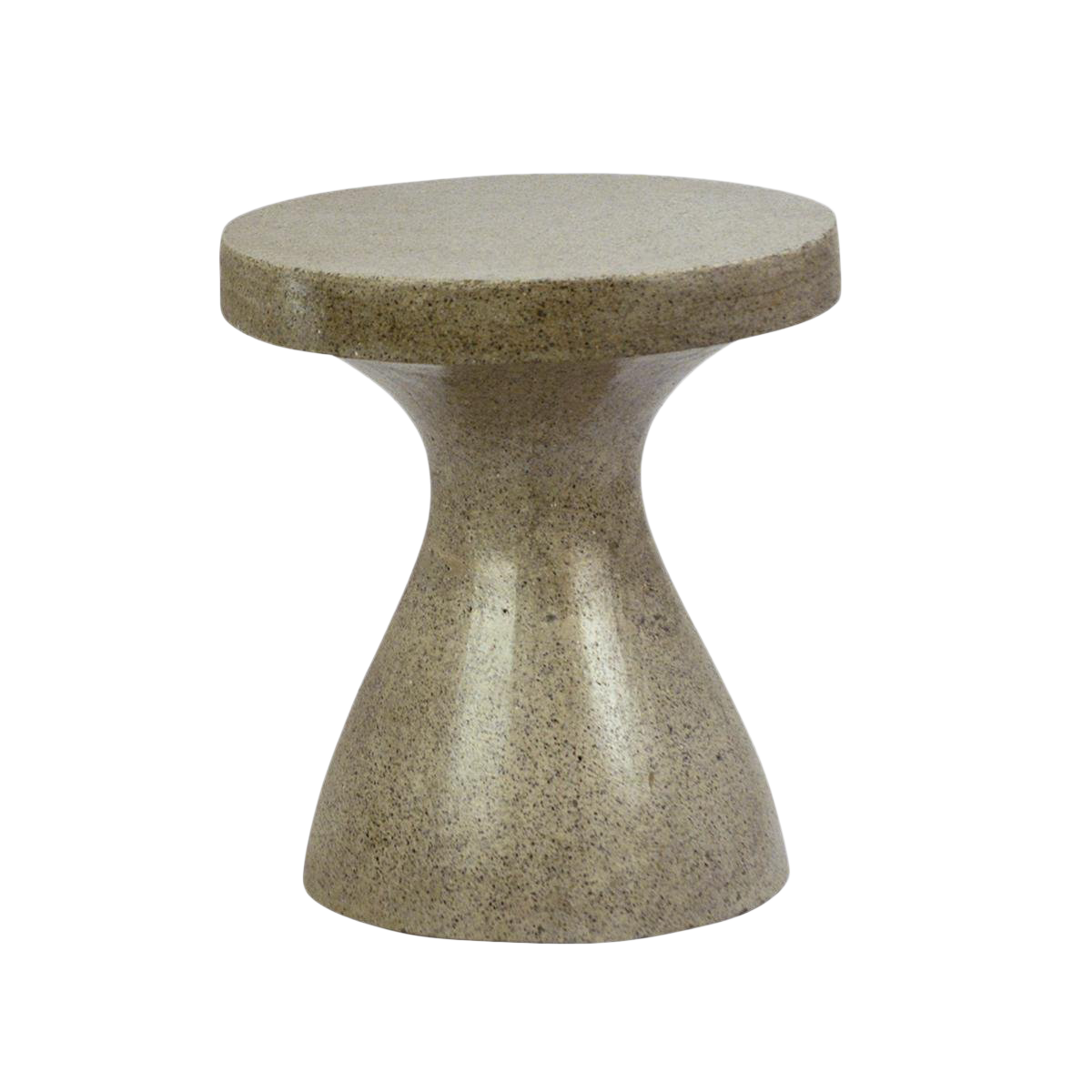 Cement side table Round Hourglass Cement Side Table For Sale Chairish Hourglass Cement Side Table Chairish