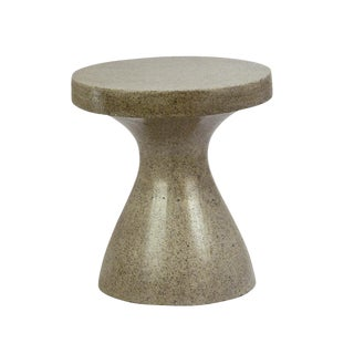 Hourglass Cement Side Table For Sale