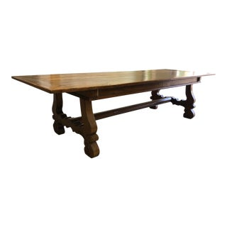Spanish Designer Reclaimed Wood XL Dining Table For Sale