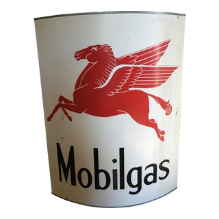 Up-Cycled Hand-Forged Finished Mobil Gas Sign For Sale