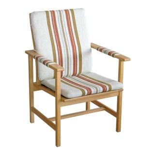 Børge Mogensen Model 2257 1960s Oak Lounge Chair for Fredericia Stolefabrik For Sale