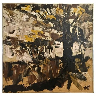 Mid-Century Modern Abstract Impressionist Painting