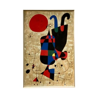 Modern Joan Miro Limited Edition Re-Creation by Gunther Dietz For Sale
