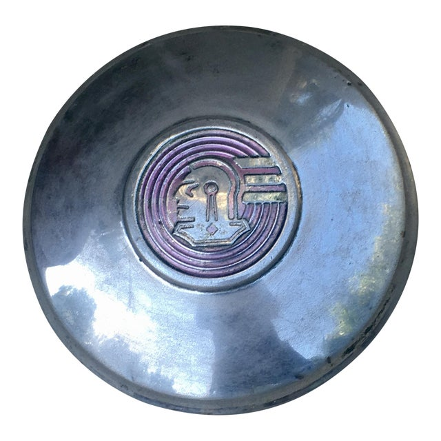 Decorative Wall Accent Vintage Pontiac Chieftain Hubcap For Sale