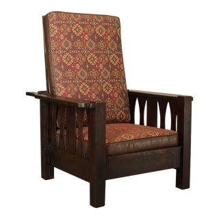 Antique Mission Oak Morris Chair For Sale