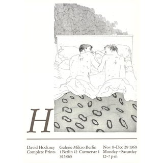 David Hockney, Two Boys Aged 23 or 24, Offset Lithograph, 1968 For Sale