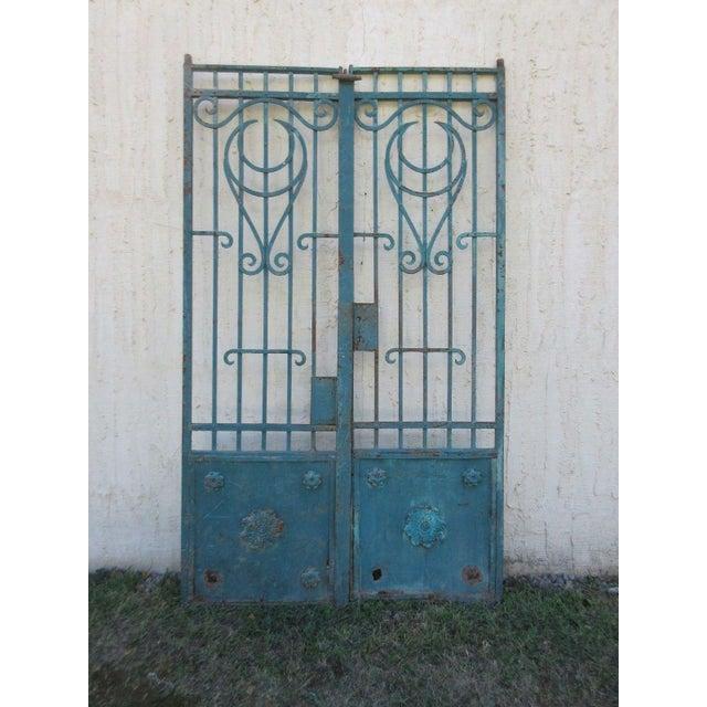 Antique Victorian Iron Gates - A Pair - Image 2 of 8