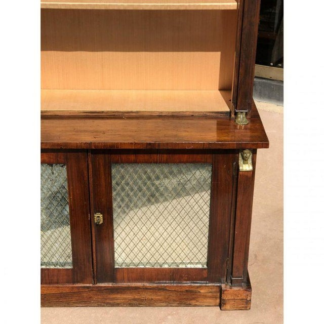19th C. French Rosewood Bookcase For Sale - Image 4 of 6