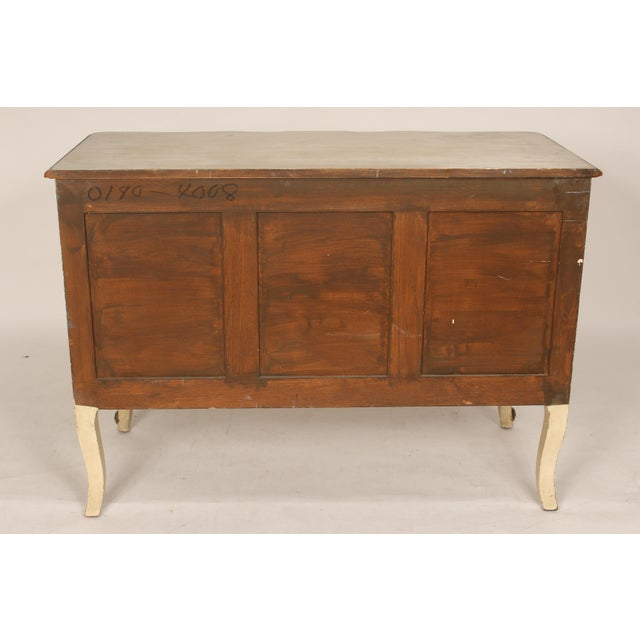 Louis XV Style Painted and Partial Gilt Chest of Drawers For Sale - Image 4 of 13