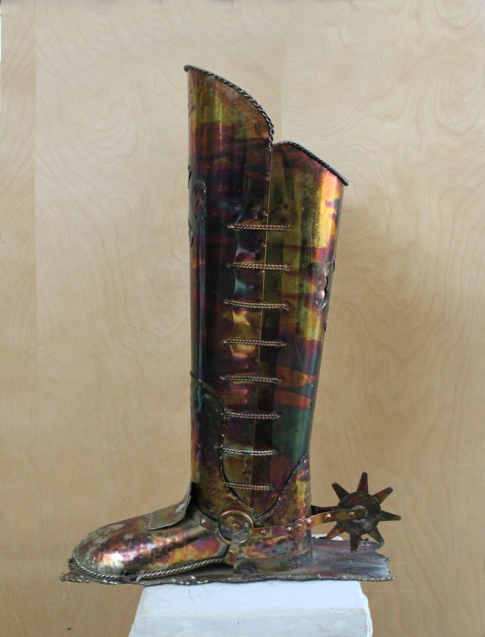 vintage military boot copper umbrella holder | chairish Copper Umbrella Holder
