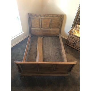Lexington White Washed Queen Sleigh Bed Preview