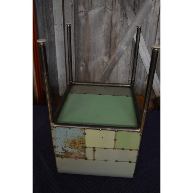 Locally-Sourced Reclaimed Steel Bedside Table - Image 10 of 10