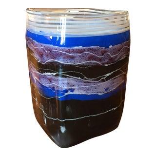 John De Wit Studio Art Glass Vase For Sale