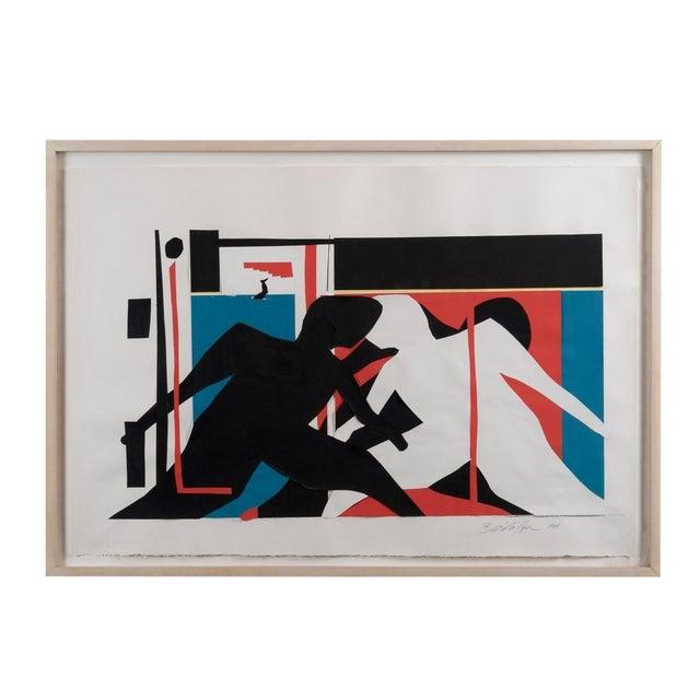 "1984 ""Midtown 11:45am"" Collage Artwork by Bill Schiffer For Sale"