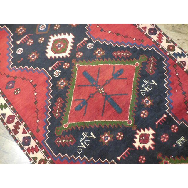 """Persian Tribal Kilim Runner - 3'5"""" x 10'3"""" For Sale In Chicago - Image 6 of 6"""