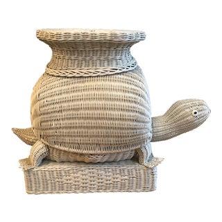 Vintage Wicker Turtle