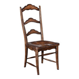 Colonial Solid Wood Pecan Side Dining Chair For Sale