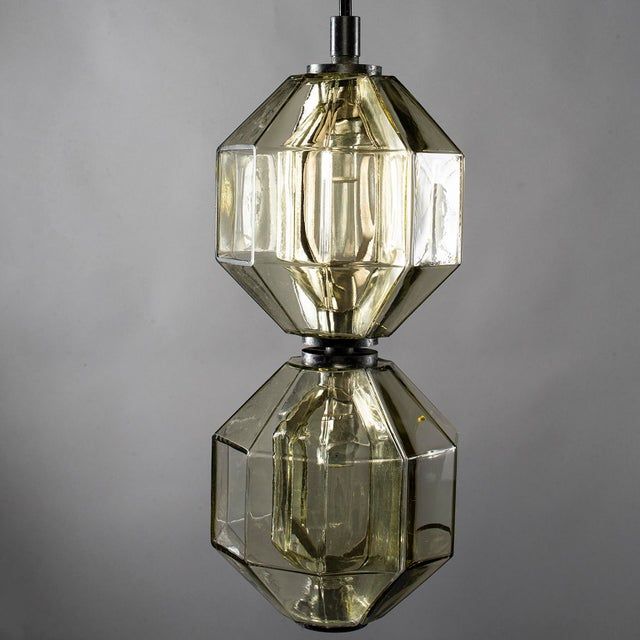Vistosi Double Vessel Amber Glass Lantern For Sale In Detroit - Image 6 of 10
