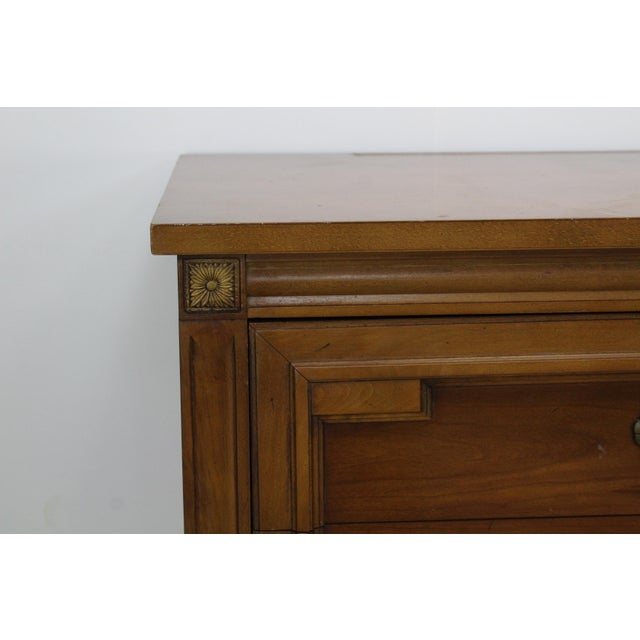 Mid-Century Modern Walnut Six Dresser With Brass Hardware For Sale - Image 11 of 12