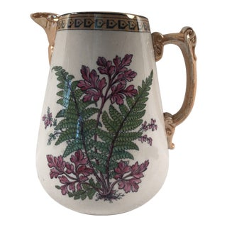 Early 20th Century English Jug With Fern Decoration For Sale