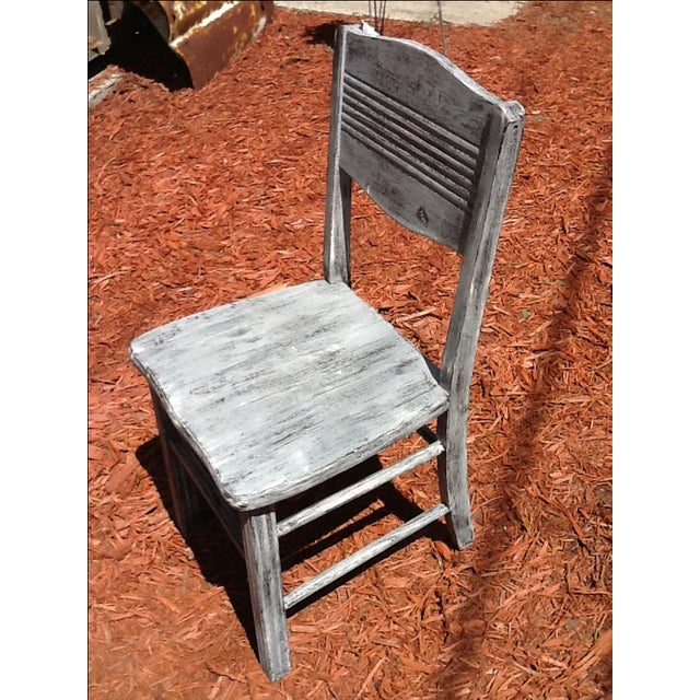 Antique Shabby Chic Chair - Image 4 of 6