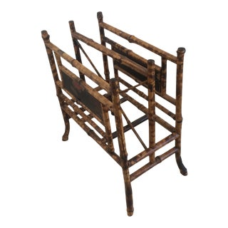 19th Century Boho Chic Bamboo Magazine Rack For Sale