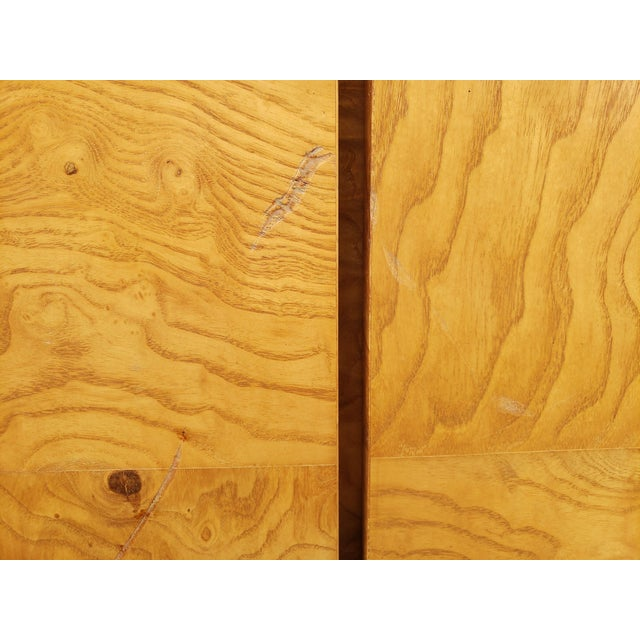 1970s 1970s Milo Baughman Burl and Chrome Credenza For Sale - Image 5 of 12