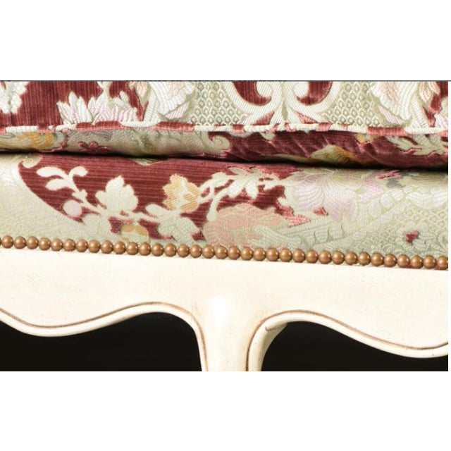 Textile Velvet Chaise Lounge by John Widdicomb For Sale - Image 7 of 8