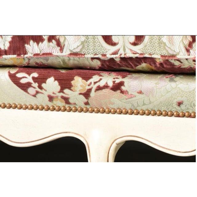 Velvet Chaise Lounge by John Widdicomb - Image 7 of 8