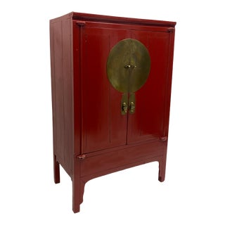 Vintage Asian Ming Style Cabinet For Sale