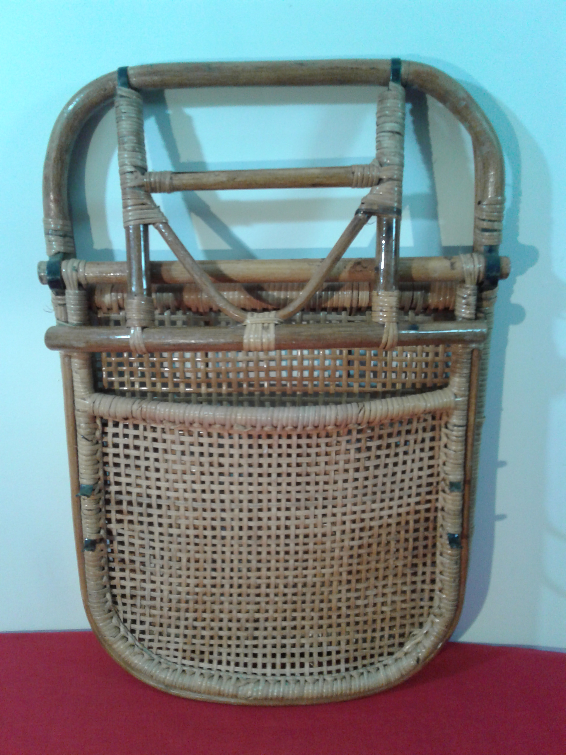 Delicieux Brown Vintage Bamboo U0026 Rattan Beach Chair For Sale   Image 8 Of 11