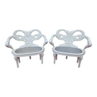 1990s Oscar De La Renta Zeus Chairs for Century Furniture - a Pair For Sale