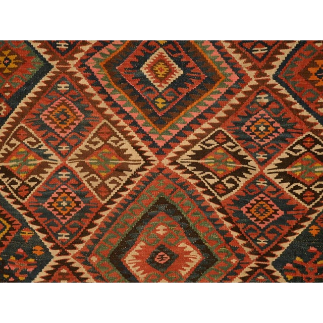 Circa 1930 Persian Kilim Geometric Patterned Rug - 5′2″ × 7′11″ For Sale In Chicago - Image 6 of 10