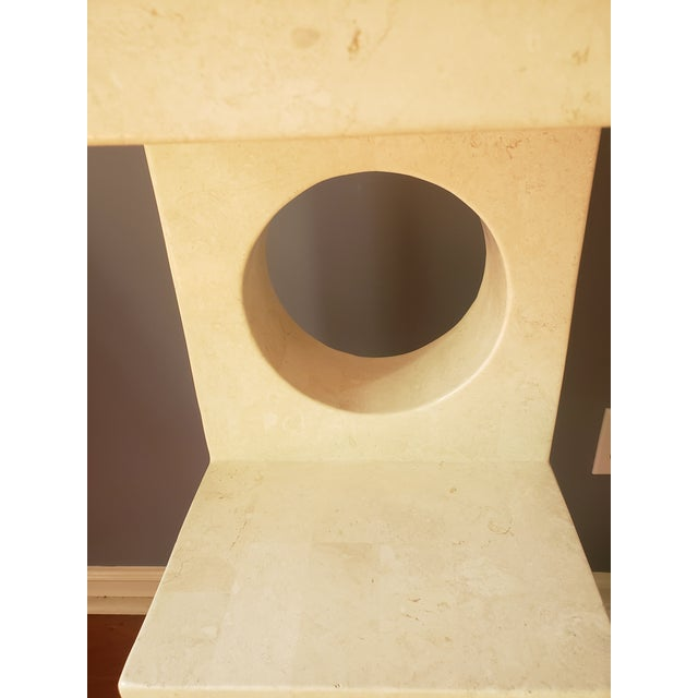 1980s 1980s Sculptural Tessellated Stone Display Pedestal For Sale - Image 5 of 13