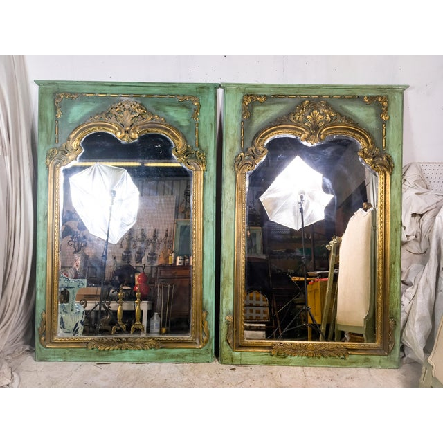 Gilded Antique French Mirrors - A Pair - Image 4 of 4